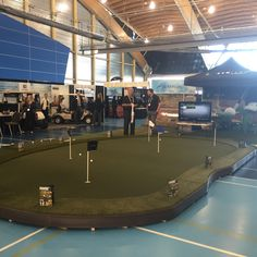 SYNLawn® Vancouver display at PGA buyer's show in Richmond, BC.