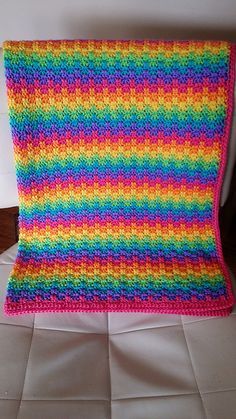 Ravelry: Project Gallery for Leaping Stripes and Blocks Blanket      COLOR