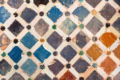 Tile decoration, Alhambra palace, Spain Wall Decal | Wallmonkeys