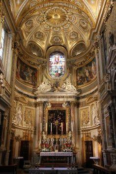 Rome - Church of Santa Maria dell' Anima. Catholic church interior in Italy.
