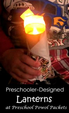 Preschooler-designed Lanterns...easy & educational!