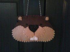 Bucky Beaver Felt Ornament