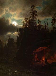 Albert Bierstadt - The Trappers' Camp (1861)