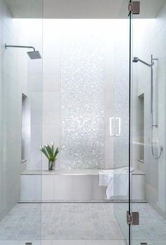 In any bathroom remodeling, the job most frequently starts with the shower or bathtub. Redesigning the shower or tub might bring about a entire change in the look of a bathroom. Bathroom shower remodeling asks a whole lot of planning,… Continue Reading → Bad Inspiration, Bathroom Inspiration, Modern Bathroom Design, Bathroom Interior Design, Bathroom Designs, Bath Design, Diy Interior, Tile Design, Design Design