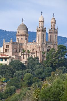 The Christian cathedral (Basilica of St. Augustine and Hippone), Annaba, Eastern Algeria, Algeria, North Africa, Africa