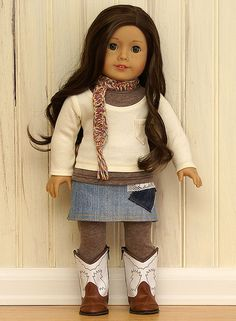 American Girl Doll Clothes-Patchwork Denim Set