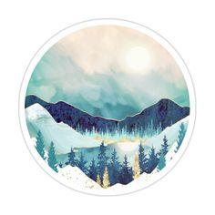 Sky Reflection Sticker by spacefrogdesign