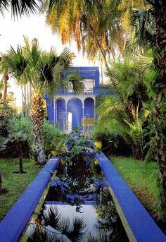 Yves Saint Laurent Gardens in Marrakech