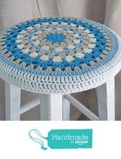 Crochet Slipcover for Round Barstools, Custom Fit and Color Crochet Wool, Crochet Cushions, Love Crochet, Crochet Motif, Crochet Granny, Crochet Circles, Crochet Squares, Crochet Flower Patterns, Crochet Flowers