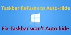 4 Way to Fix Windows 10 Taskbar Not Hiding  https://www.howtoseeks.com/windows-10-taskbar-not-hiding/