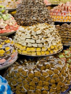 Sweets For Sale in the Souk of Meknes, Morocco, North Africa, Africa