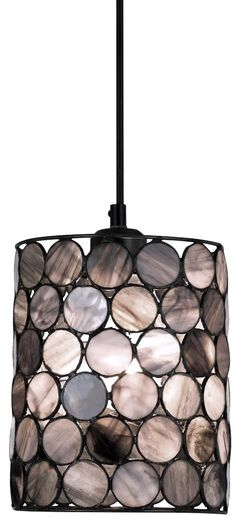 Tiffany Stained Glass Pendant Light Black White Charcoal Gray Lamp Shade.  Awesome pendant light for a black-styled kitchen.  #LGLimitlessDesign #Contest   LG Limitless Design