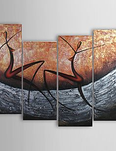 Hand-painted Abstract Oil Painting with Stretched Frame - Set of 4 Modern Canvas Art, Hand Painted Canvas, Online Painting, Oil Painting Abstract, House Painting, Decoration, Tapestry, Wall Art, Wall Decor