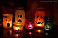 Mason Jar Halloween Craft Idea. So Cute!  Lara's Candle Shop Blog
