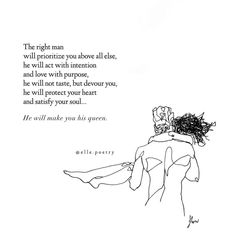 He will make you his queen. Happy Valentine's Day lovers ❤️ Art by Deep Relationship Quotes, Real Friendship Quotes, Poem Quotes, Friend Quotes, Relationships, Romantic Quotes For Him, Romantic Poems, Love Quotes For Him, Someone Special Quotes