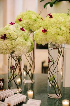 Hydrangea decoration - Key Biscayne Wedding at The Ocean Club from Becca Borge Photography