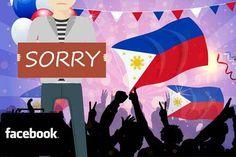 Facebook 'declares war' in Philippine flag gaffe - https://technnerd.com/facebook-declares-war-in-philippine-flag-gaffe/?utm_source=PN&utm_medium=Tech+Nerd+Pinterest&utm_campaign=Social