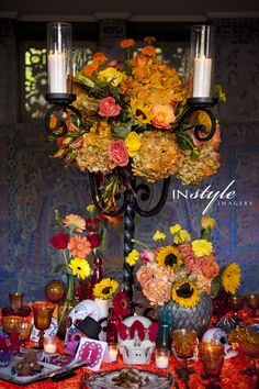 Day of the Dead inspired bridal photo shoot | Orlando Wedding Vendors | In Style Imagery | Michele Butler Events | Lee Forrest Design