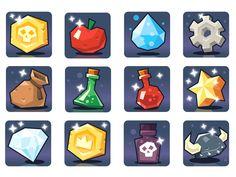 game items (freelance work) on Behance