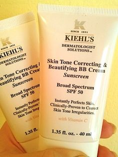 Makeup Review, Before/After Photos, Swatches: Kiehls Skin Tone Correcting & Beautifying BB Cream SPF 50 - Best For Evens Skintone
