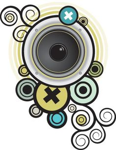 Sound Proof Vector Graphic — speaker, swirls Free Graphics, Vector Graphics, Color Theory, Background Patterns, Swirls, Vector Design, Illustration, Vectors, Commercial