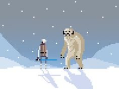 An older piece that I had animated, but never posted here. There's some weird snow bits that are looping kinda weird.