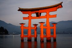 Hiroshima.. Floating Gate...make sure you're there during low and high tide...you can walk out and touch it..
