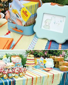 Adorable Disney Parties (the Dumbo one is sooo cute for a little baby!!!)