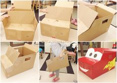 how i make the card board box car~