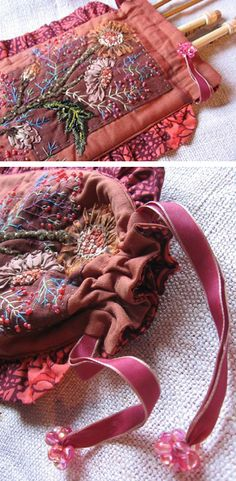 Embroidered bag from Facile Cecile blog