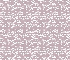 Pastel love hearts tossed hand drawn illustration pattern scandinavian style in violet XS handmade & fabric inspiration by little smilemakers on Spoonflower - custom fabric