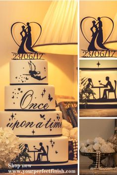 Fairytale wedding cakes deserve a fairytale cake topper. Find the perfect cake topper for your magical day at http://www.yourperfectfinish.com