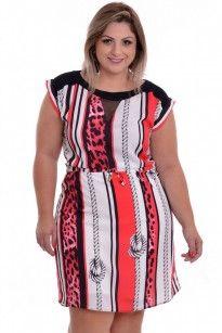 Vestido Plus Size Femine Red