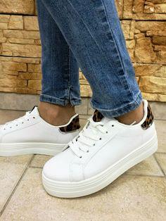 Sneakers donna platform 112 bianco leopard nuova collezione estate 2019 a510e8be802