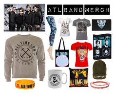 """ATL Band Merch"" by bluebanana ❤ liked on Polyvore"