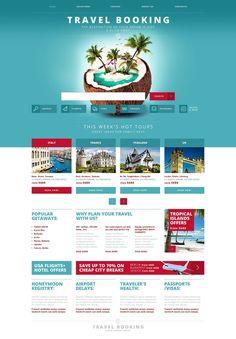 Travel Agency Responsive Website Template New Screenshots BIG