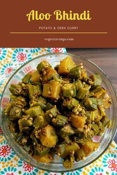 Aloo Bhindi Sabzi is a simple and delicious North Indian stir fried vegetable dish made from Bhindi (Okra) and Aloo (Potato) and flavoured with Indian spices. Indian Okra Recipes, Indian Vegetable Recipes, Aloo Recipes, North Indian Recipes, Potato Recipes, Veggie Recipes, Vegetarian Recipes, Vegan Meals, Healthy Recipes