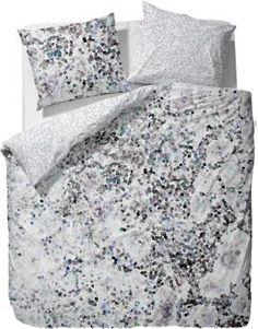 Esprit Wendebettwäsche, »Coral«, im gepunktetem Design, grau, 1x 135x200 cm, 1x…