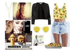 104->Minion Yellow by dimibra on Polyvore featuring Maglie I Blues, Bullhead Denim Co., Vans, CC SKYE, Casetify, Ray-Ban, contest and minionyellow