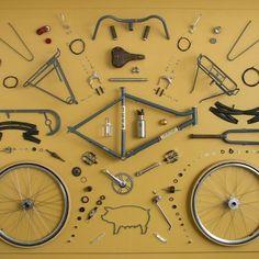 instabicycle:  Via @bikesandbrews: Oink #bikesandbrews #bike...