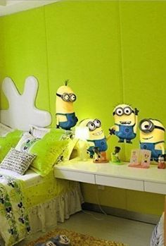Despicable me 2 cute minions wall stickers for kids rooms decorative adesivo de parede removable pvc wall decal Nursery Room Decor, Rooms Home Decor, Bedroom Decor, Wall Stickers Minions, Minion Room Decor, Minion Bedroom, Minion Nursery, Cartoon Wall, Kids Room Wallpaper