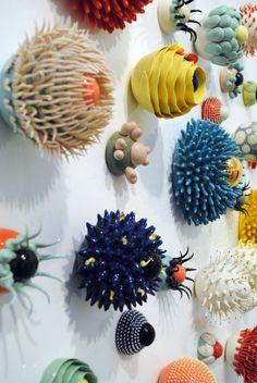 Cactus Ceramic, Ceramic Pinch Pots, Ceramic Art, Contemporary Embroidery, Contemporary Art, Art Plastique, Magazine Art, Clay Art, Art Inspo
