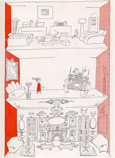 saul steinberg illustrations for the catalog of the Alexander Girard EXHIBITION FOR MODERN LIVING