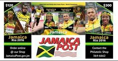 Usain Bolt & Shelly-Ann Fraser-Pryce featured on Rio Olympics postal stamps