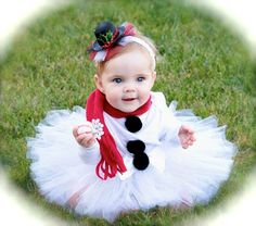 Frosty the Snowman TutuTop Hat Headband and Red by LilTutuDivas, $39.50