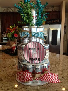 Justin's 30th birthday beer cake!
