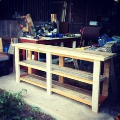 DIY Sofe Table Or Entry Table. Would Also Be A Great Plant Stand/buffet For  The Patio Too. Or Display Tables At Craft Fairs Hate Those Really Deep  Tables