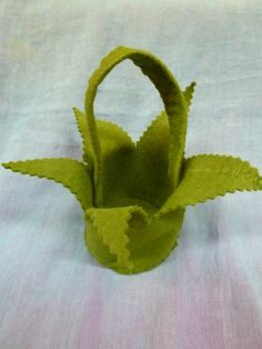 Will make as trick or treat bag for tinkerbell costume Green Felt Gnome Basket