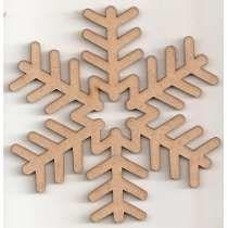 Aplique Flocos De Neve Frozen 30cm N°2 Mdf - 1 Peça