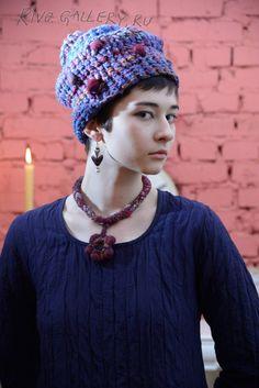 (c) Natalia Rivo 2015 Gallery.ru / foto - Elena Kvita - Available - в наличии - rivO Freeform Crochet, Crochet Hats, My Works, Handmade Jewelry, Beanie, Gallery, Flowers, Fashion, Knitting Hats